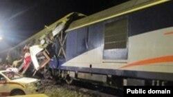 قطار تهران-مشهد پس از تصادف، پنجشنبه ۱۵ خرداد ۱۳۹۳