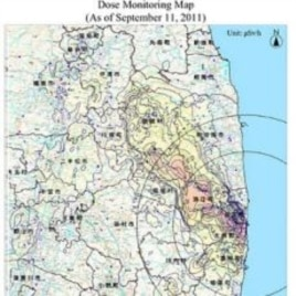 Latest Japanese goverment-released radiation dose map. Hot spots are being found far outside the expected zones of elevated radiation.