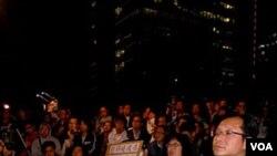 Aksi unjuk rasa di Hongkong menuntut pembebasan pembangkang Tiongkok dan penerima Nobel Perdamaian, Liu Xiaobo (foto: dok.)