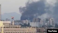 大馬士革地區冒起濃煙