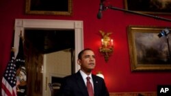 US President Barack Obama delivers his weekly address, 06 Feb 2010