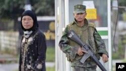 自從2004年起,以穆斯林為主的泰國南部出現反叛暴力活動(資料照)
