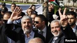 Lider Hamasa Haled Mešal po dolasku u Pojas Gaze