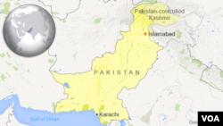 ນະຄອນ Karachi ແລະ ນະຄອນຫຼວງ Islamabad ຢູ່ໃນແຜນທີ່ ປະເທດ Pakistan
