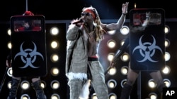 Lil Wayne performs at the Billboard Music Awards at the T-Mobile Arena in Las Vegas.