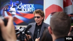 Barry Manilow at Rehearsal for the Capitol Fourth Concert in Washington, DC
