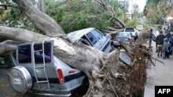 Šteta koju je vetar pričinio u predgrađu Los Anđelesa
