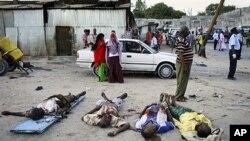 8일 자살폭탄테러가 발생한 소말리아 수도 모가디슈