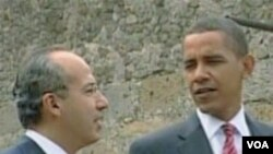 Presiden AS Barack Obama dan Presiden Meksiko Felipe Calderon (foto: dokumentasi).