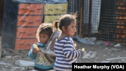 Children at the Al-Hol refugee camp in Syria