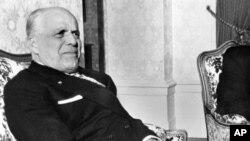 Le président tunisien, Habib Bourguiba, le 26 janvier 1974 à Genève.