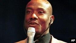 Joseph-Antoine Bell, ancien gardien de but de l'équipe Nationale de football du Cameroun, 11 janvier 1999.