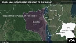 Ikarata ya Cono yerekana ahaherereye Kivu