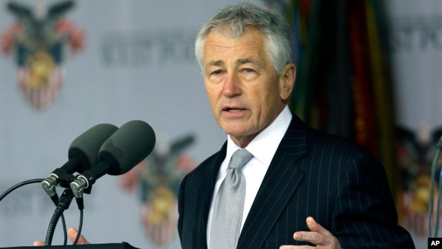 Defense Secretary Chuck Hagel speaks during graduation and commissioning ceremony at the U.S. Military Academy in West Point, N.Y., May 25, 2013.