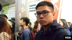 香港中文大學學生會外務秘書李文耀 (美國之音湯惠芸拍攝)