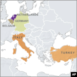 Location of US short-range nuclear missile in Europe