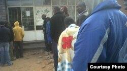 A Zimbabwe polling station on July 31. Botswana's monitoring delegation says SADC should investigate allegations of rigging.