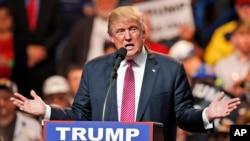 Mgombea urais wa Republican, Donald Trump alipokuwa West Virginia