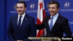 Ираклий Гарибашвили и Бидзина Иванишвили. Тбилиси. Грузия. 2 ноября 2013 г.