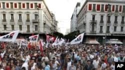 希臘民眾反對政府緊縮計劃。