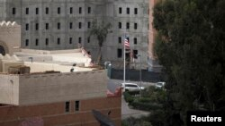 A general view of the U.S. embassy compound in Sanaa, Yemen, Aug. 7, 2013.