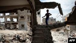 지난해 여름 하마스-이스라엘 간 전쟁으로 폐허가 동부 가자지구 주택가 지난 11일 모습.