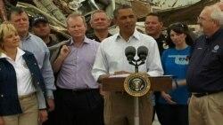 Обама посетил пострадавший от торнадо