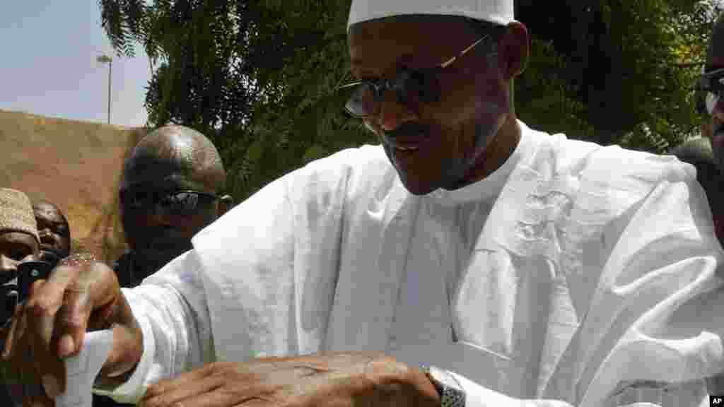 Janar Muhammadu Buhari da ANPP a Daura, Najeriya, Aprila 20, 2007.