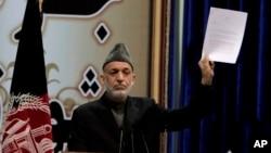 阿富汗总统卡尔扎伊。(资料图片)