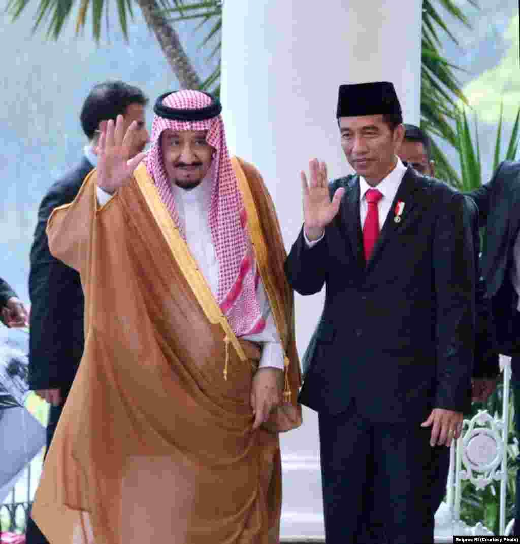 Raja Salman dan Presiden Jokowi, 1 Maret 2017 (Foto courtesy : Setpres RI).