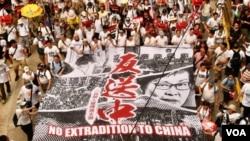 香港警方質疑2019年多次發起反送中遊行集會的民主派聯盟民間人權陣線(民陣), 涉嫌違反《社團條例》,要求民陣提供成立至今的收入來源等6項資料。 (美國之音湯惠芸)