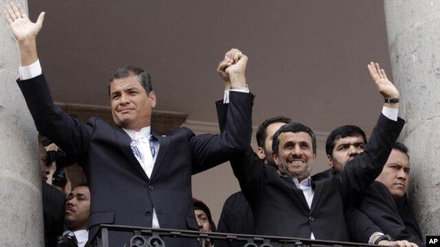 En enero último, el presidente Correa se reunió en Quito con el gobernante iraní, Mahmud Ahmadinejad.