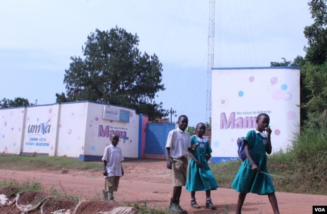 Mama FM is a community radio station challenging stereotypes by covering issues that affect normal Ugandan women, Kampala, June 18, 2014. (Hilary Heuler/VOA)