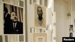 애틀랜타 시내 근대 올림픽 100주년 기념공원에 있는 민권인권센터 내부. 마틴 루터 킹(왼쪽) 목사를 비롯해 민권운동의 상징적 인물들의 발자취가 전시돼있다.