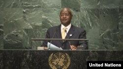 President Yoweri Museveni addresses the UN General Assembly on September 20, 2016.