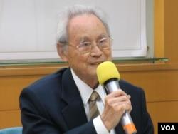 台湾戒严时期政治受难者关怀协会荣誉理事长蔡宽裕。(美国之音张永泰拍摄)
