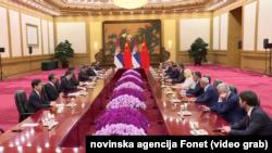 Sastanak delegacija Kine i Srbije na samitu Pojas i put, Foto: video grab