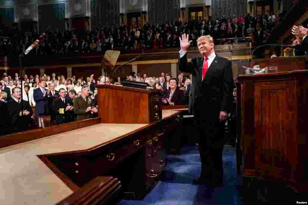 ABŞ prezidenti Donald Trampın Konqresin birgə iclasında ölkədə vəziyyətlə bağlı illik hesabat məruzəsi