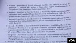Platforma e qeverisë së Kosovës për bisedimet me Serbinë