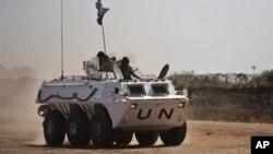 Soudan: déploiement des Casques bleus à Abyei en mars 2011.