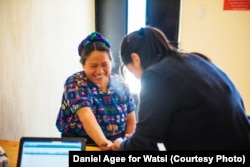 A nurse at Wuqu' Kawoq (Maya Health Alliance) evaluates a patient in Guatemala.