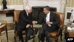 President Barack Obama and Panama President Ricardo Martinelli meeting early 2012.