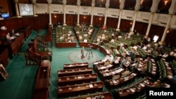 FILE - A general view shows Tunisia's Constituent Assembly. Tunisia's parliament agreed to hold parliamentary elections and a presidential poll a month later, a step towards full democracy in the country.