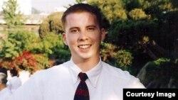 실종 미국인 대학생 데이비드 스네든 씨.