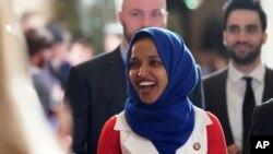 Anggota Kongres AS, Ilhan Omar di gedung Capitol, Washington, D.C., 5 Februari 2019. (Foto: dok).