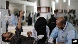 也門衝突傷者被救治中