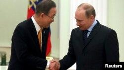 Пан Ги Мун и Владимир Путин