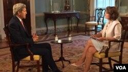 """En entrevista con Setareh Derakhshesh, Kerry dijo que planea """"hablar con la verdad"""" ante el Congreso donde lo esperan un buen número de escépticos."""