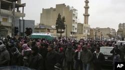 大馬士革反政府示威。