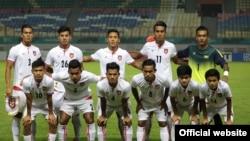 Asian Games ေဘာလံုးၿပိဳင္ပြဲဝင္ ျမန္မာ U-23 ေဘာလံုးအသင္း။ (ဓာတ္ပံု MFF) ၁၅ ၾသဂုတ္ ၂၀၁၈။